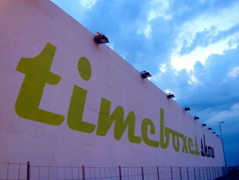 Timebox wall